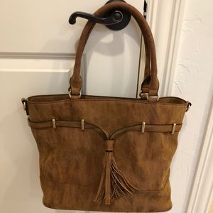 Sole Society faux suede purse